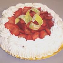 Dame blanche aux fraises