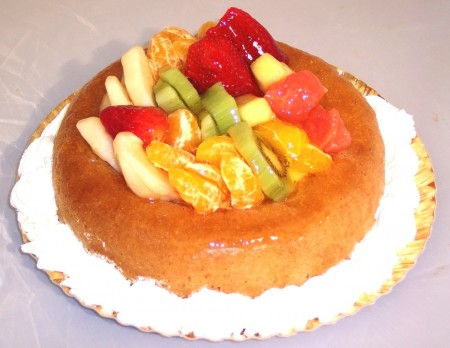 Baba aux fruits frais